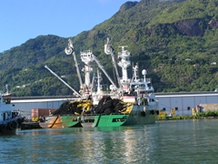 Large fishing trawler in Victoria