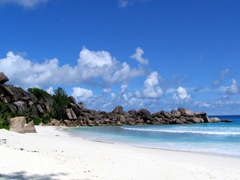 The gorgeous beach of Grand Anse; La Digue
