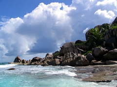 The perfect combination of sun, sand, sea and clouds! We love Grand Anse beach