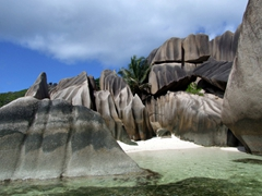 The giant boulders of Anse Source d'Argent are one of nature's delights