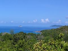 View overlooking Anse Lazio; Praslin