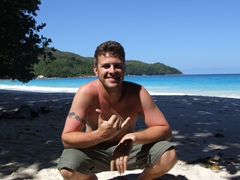 Robby having too much fun in Seychelles