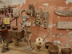 Woodcarvings for sale; St-Louis