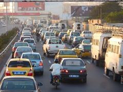 Traffic jam into Dakar