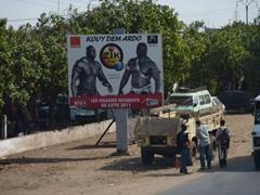 La Lutte wrestling poster; Dakar