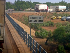 The border crossing between Senegal and Mali