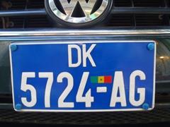 Dakar license plate