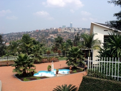 View of the excellent Genocide Museum in Kigali