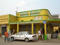 What a funny name for a restaurant; Musanze