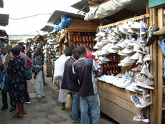 Lots of donated items that go to Rwanda end up making their way to the local markets for sale at reasonable prices; Musanze
