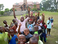 "These kids were really excited about photos with ""mzungus""; Musanze"