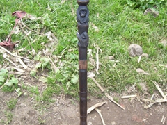 The walking stick Becky used for the trek to see the mountain gorillas