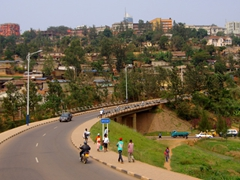 The heart of Kigali, Rwanda's capital. Its hard to imagine that only a decade ago, mass genocide occurred here
