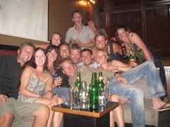 Group photo at The Elephant Bar; Abuja Sheraton Hotel