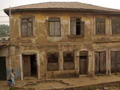 Crumbling architecture in Abeokuta