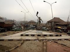 Traffic roundabout; Abeokuta