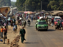 Crowded streets near Bida