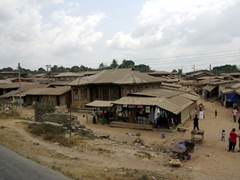 Typical Nigerian village enroute to Calabar