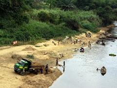 Bustling river scene; near Calabar