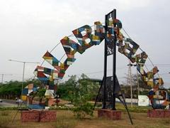 Colorful Calabar signpost