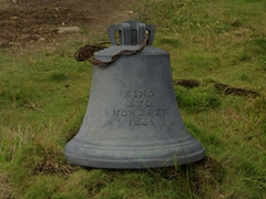 An old bell dating from 1846 in honor of King Eyo Honesty; Creek Town