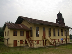 A relic of colonial architecture, the Creek Town Church