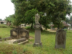 The old missionary cemetery; Creek Town