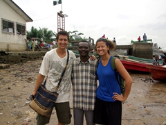 Posing next to a super friendly Nigerian Prince