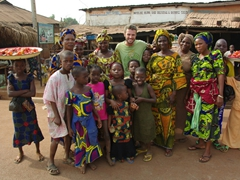 Robby strikes a pose with some friendly Ketou residents
