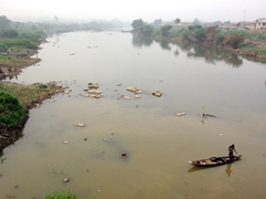 A polluted river runs through Abeokuta