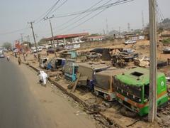 Where old trucks go to die; near Ogbomosho