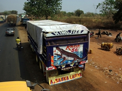 Colorful truck; Bida