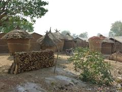Traditional Nigerian village; near Bida