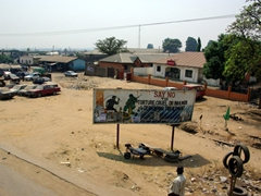An interesting billboard on the outskirts of Abuja advising Nigerians against torture, cruelty or inhumane treatment