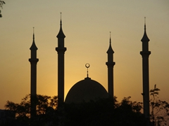 Dusk view of Abuja's magnificent Central Mosque