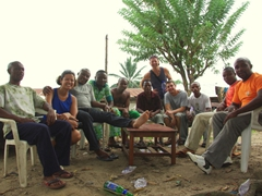 Group photo with some friendly Duke Town residents; Calabar