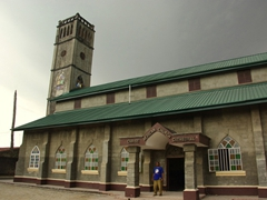 Calabar's Christ African Church Cathedral, where we sought refuge from a sudden torrential rain storm