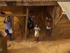 Friendly Katabang children greeting us as we pass back through enroute to Ikom