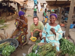The vendors at Abeokuta's market were happy to have their photo taken