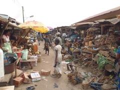 We enjoyed just wandering around the Abeokuta market where everyone was friendly and the atmosphere was lively