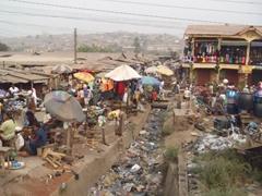 Trash is strewn everywhere in gritty, albeit super friendly, Abeokuta