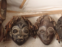 African masks for sale; Abuja Craft Village