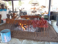 Yummy grilled street meat; Abuja