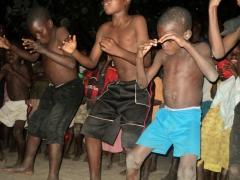 "Malawian kids dancing the ""Haka"" (a New Zealand dance) for us; Kande Beach"