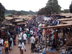 View of the chaotic Lilongwe market
