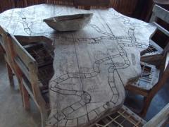 An African map table; Kande Beach