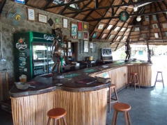 Interior of the bar at Kande Beach campsite