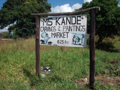 Signpost for the Kande crafts market