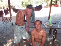 Lucky shaves Luke's hair; Kande Beach