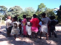 School kids show us how to shake it; Mphatso Children's Foundation kindergarten playground